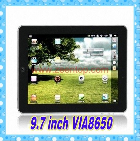 9.7 inch epad andriod 2.2 VIA 8650 800MHz Camera FLASH WiFi Tablet PC MID tablet pc