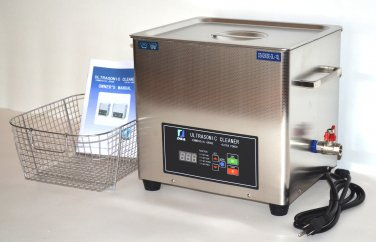 DSA280SE-GL1 10L 880W DUAL 20KHz or 40KHz HEATED INDUSTRIAL ULTRASONIC PARTS CLEANER WASHER