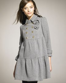 Juicy Couture Wool Tiered Coat