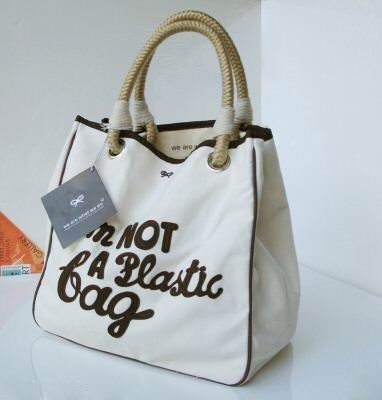 "Anya Hindmarch ""Im Not A Plastic Bag"" Brown"
