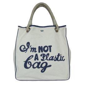 "Anya Hindmarch ""Im Not A Plastic Bag"" Grey"
