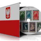 POLAND  STAMP ALBUM PAGES CD 1860-2010 (578 color illustrated pages)
