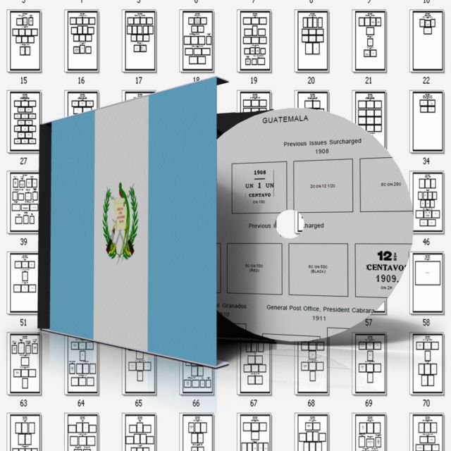 GUATEMALA STAMP ALBUM PAGES 1871-2011 (181 pages)