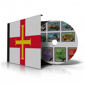 GB GUERNSEY STAMP ALBUM PAGES CD 1958-2010 (145 color illustrated pages)