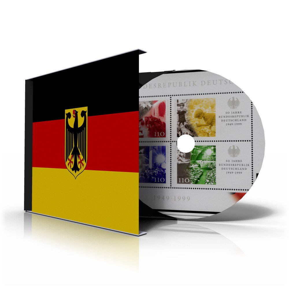 GERMANY [WEST-BRD] STAMP ALBUM PAGES CD 1949-2011 (308 color illustrated pages)