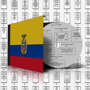 ECUADOR STAMP ALBUM PAGES 1865-2011 (449 pages)