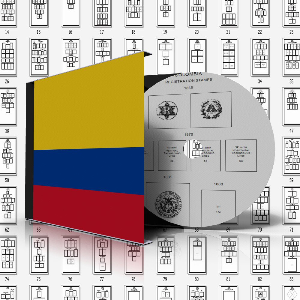 COLOMBIA STAMP ALBUM PAGES 1859-2011 (353 pages)