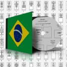 BRAZIL STAMP ALBUM PAGES 1843-2010 (473 pages)