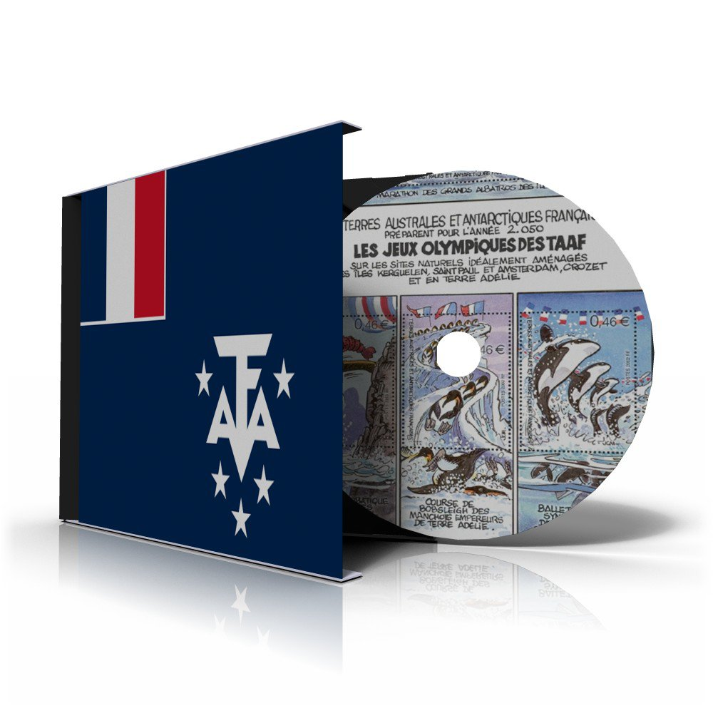 TAAF:FRANCE ANTARCTICA STAMP ALBUM PAGES 1955-2011 (107 color illustrated pages)
