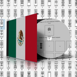 MEXICO STAMP ALBUM PAGES 1856-2011 (432 pages)
