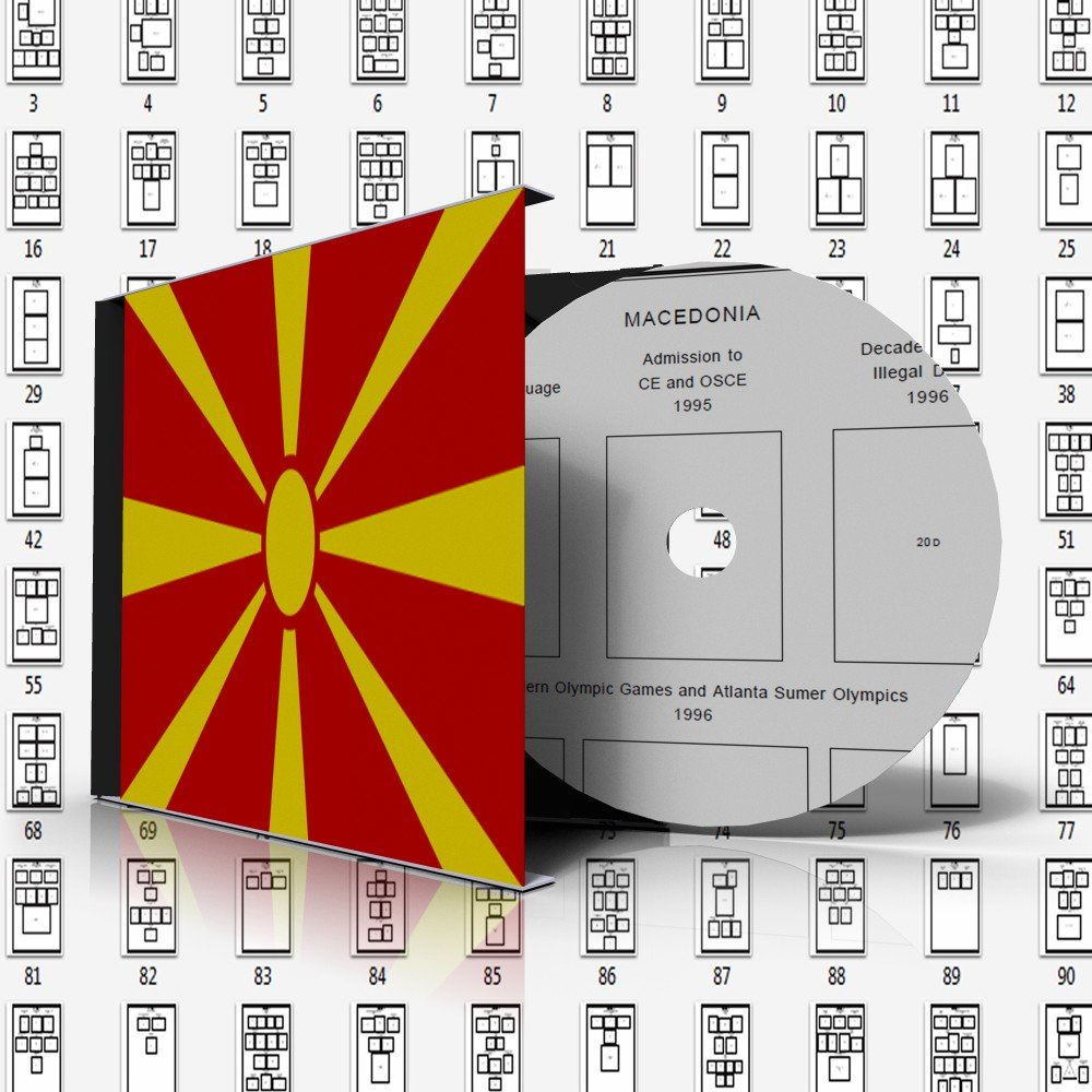 MACEDONIA STAMP ALBUM PAGES 1992-2011 (112 pages)
