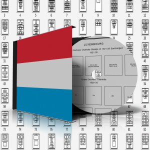 LUXEMBOURG STAMP ALBUM PAGES 1852-2011 (209 pages)
