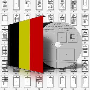 BELGIUM STAMP ALBUM PAGES 1849-2011 (610 pages)