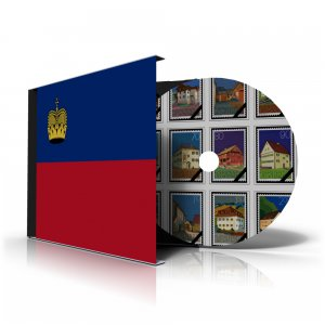LIECHTENSTEIN STAMP ALBUM PAGES CD 1912-2011 (172 color illustrated pages)