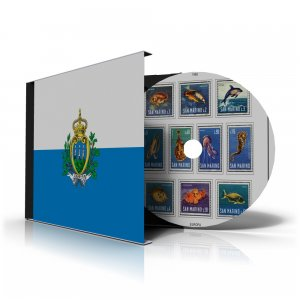 SAN MARINO STAMP ALBUM PAGES 1877-2011 (256 color illustrated pages)