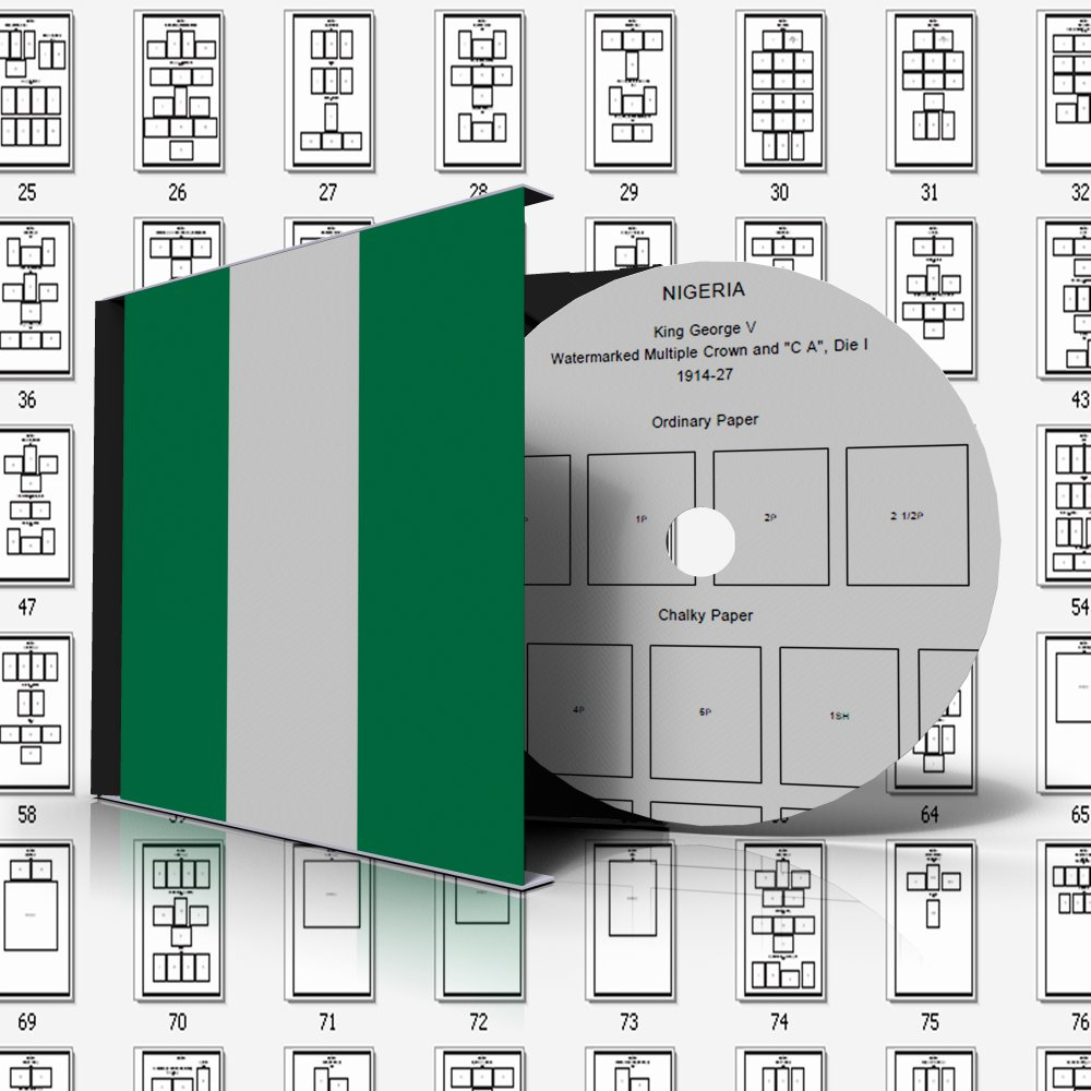 NIGERIA STAMP ALBUM PAGES 1914-2010 (99 pages)