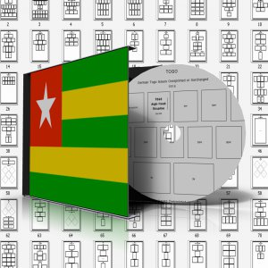 TOGO STAMP ALBUM PAGES 1897-2010 (638 pages)