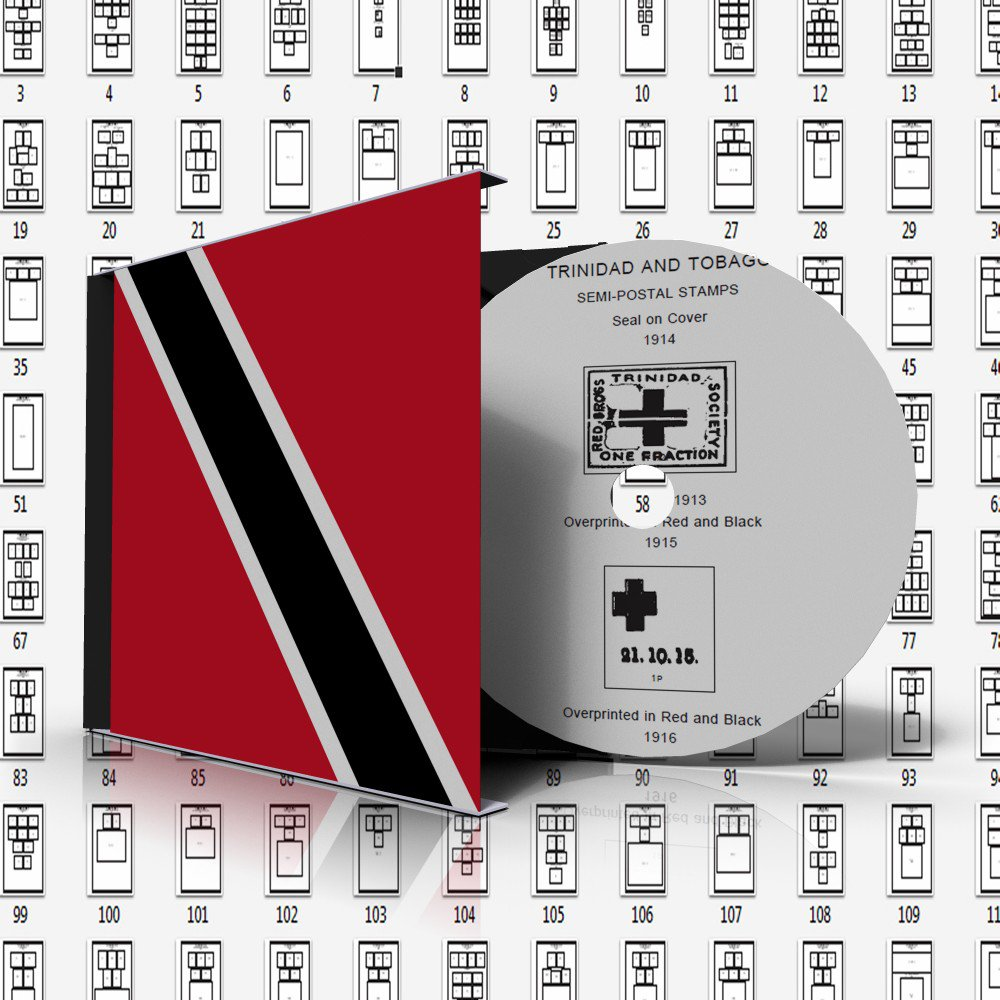 TRINIDAD AND TOBAGO STAMP ALBUM PAGES 1913-2010 (147 pages)
