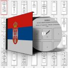 SERBIA STAMP ALBUM PAGES 1866-2011 (101 pages)