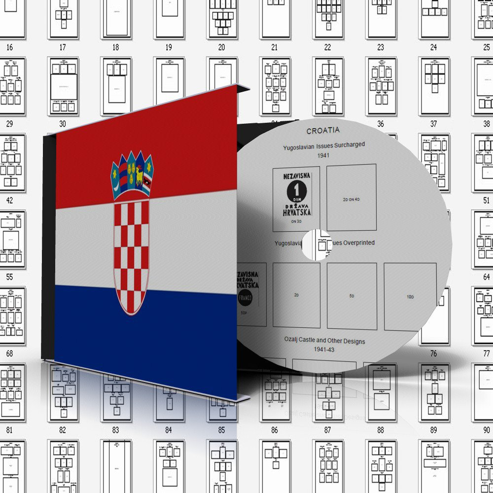 CROATIA STAMP ALBUM PAGES 1941-2011 (137 pages)