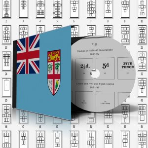FIJI STAMP ALBUM PAGES 1870-2011 (167 pages)