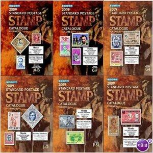 SCOTT STAMP CATALOGUE 2009 - COMPLETE 6 VOLUMES (A-Z)