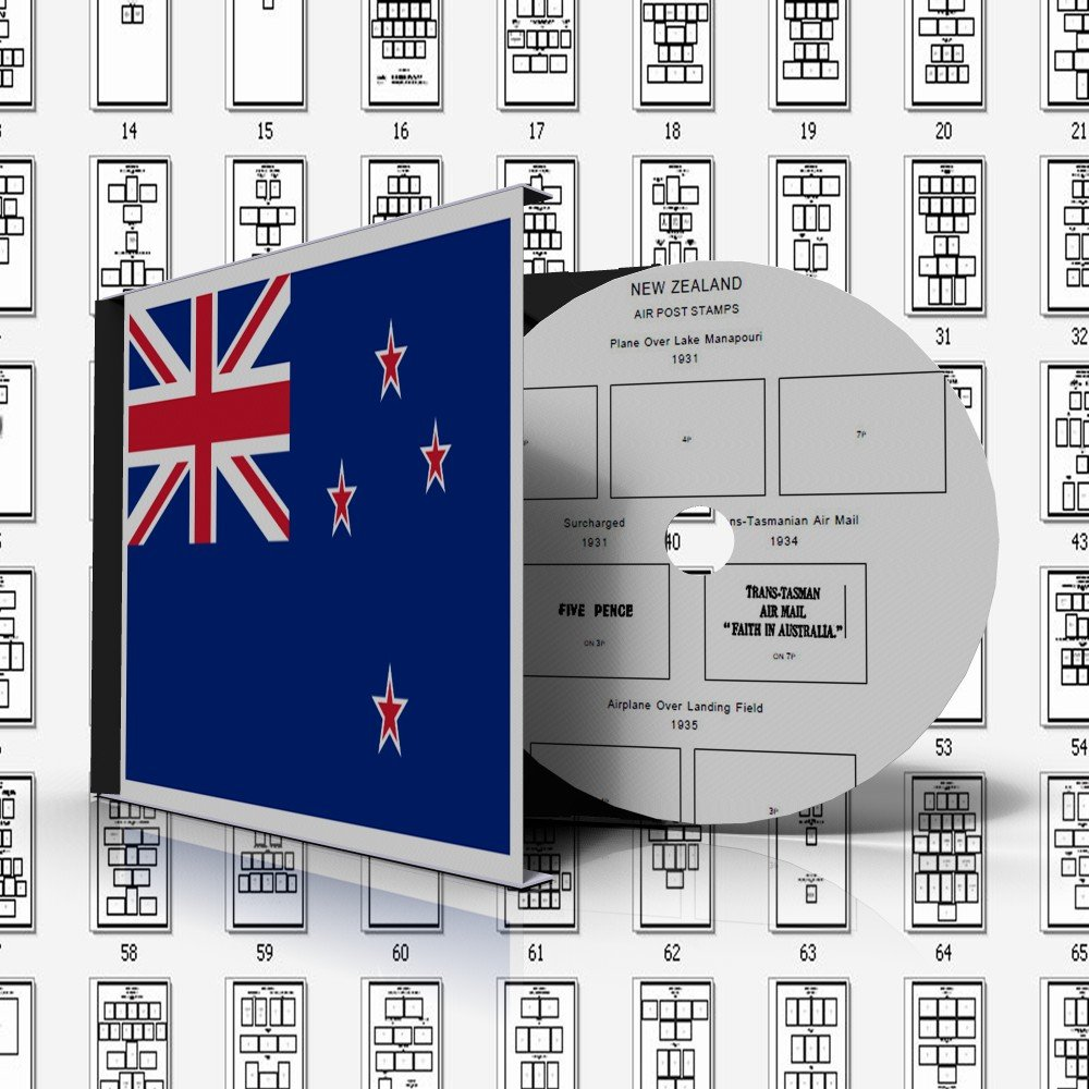 NEW ZEALAND STAMP ALBUM PAGES 1855-2011 (524 pages)