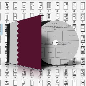 QATAR STAMP ALBUM PAGES 1957-2011 (161 pages)