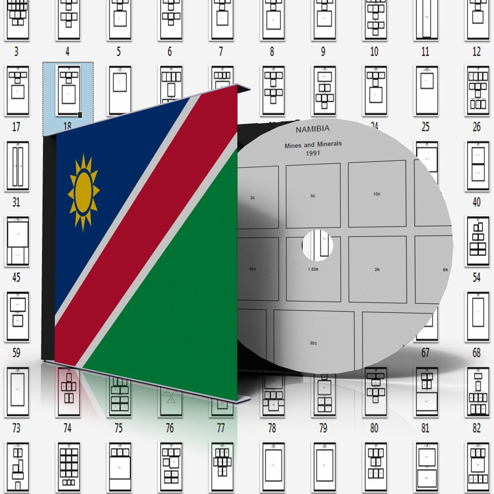NAMIBIA STAMP ALBUM PAGES 1990-2011 (109 pages)