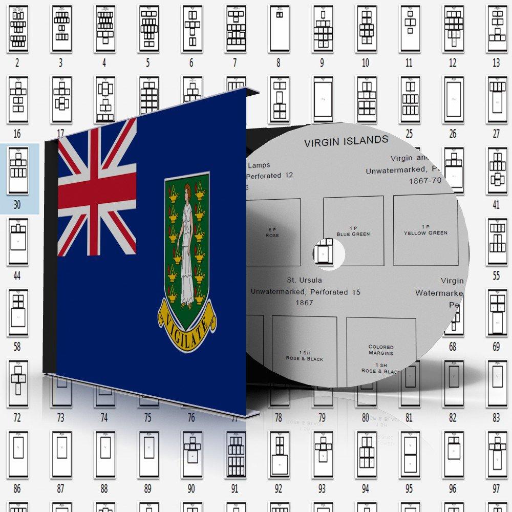 VIRGIN ISLANDS [BRITISH] STAMP ALBUM PAGES 1866-2011 (195 pages)