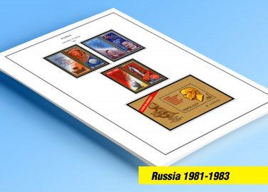 COLOR PRINTED RUSSIA 1981-1983 STAMP ALBUM PAGES (43 illustrated pages)