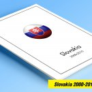 COLOR PRINTED SLOVAKIA 2000-2010 STAMP ALBUM  PAGES (46 illustrated pages)