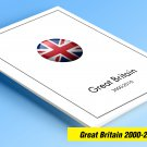 COLOR PRINTED GREAT BRITAIN 2000-2010 STAMP ALBUM  PAGES (139 illustrated pages)
