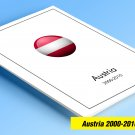 COLOR PRINTED AUSTRIA 2000-2010 STAMP ALBUM  PAGES (87 illustrated pages)