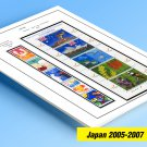 COLOR PRINTED JAPAN 2005-2007 STAMP ALBUM PAGES (44 illustrated pages)