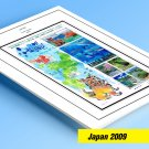 COLOR PRINTED JAPAN 2009 STAMP ALBUM PAGES (37 illustrated pages)