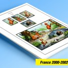 COLOR PRINTED FRANCE 2000-2002 STAMP ALBUM PAGES (57 illustrated pages)