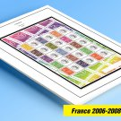 COLOR PRINTED FRANCE 2006-2008 STAMP ALBUM PAGES (79 illustrated pages)