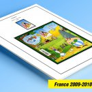 COLOR PRINTED FRANCE 2009-2010 STAMP ALBUM PAGES (54 illustrated pages)