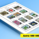 COLOR PRINTED AUSTRIA 1986-1995 STAMP ALBUM PAGES (36 illustrated pages)