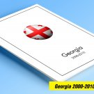 COLOR PRINTED GEORGIA 2000-2010 STAMP ALBUM PAGES (42 illustrated pages)
