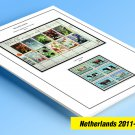 COLOR PRINTED NETHERLANDS 2011-2012 STAMP ALBUM PAGES (34 illustrated pages)
