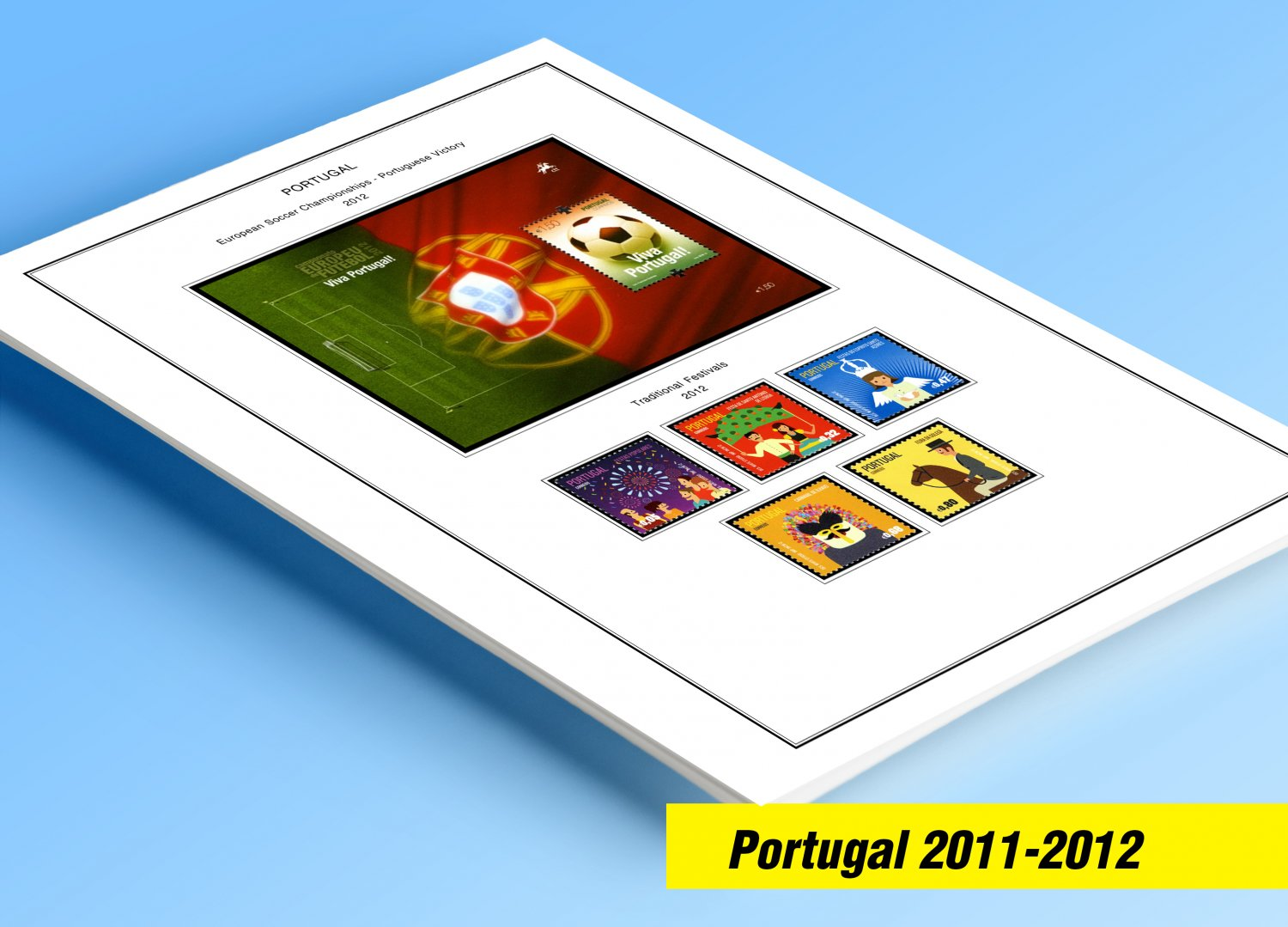 COLOR PRINTED PORTUGAL 2011-2013 STAMP ALBUM PAGES (51 illustrated pages)