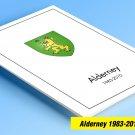 COLOR PRINTED ALDERNEY 1983-2010 STAMP ALBUM PAGES (53 illustrated pages)
