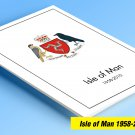 COLOR PRINTED ISLE OF MAN 1958-2010-2010 STAMP ALBUM PAGES (195 illustrated pages)