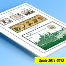 COLOR PRINTED SPAIN 2011-2013 STAMP ALBUM PAGES (44 illustrated pages)