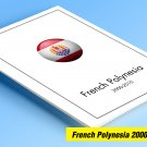 COLOR PRINTED FRENCH POLYNESIA 2000-2010 STAMP ALBUM PAGES (45 illustrated pages)