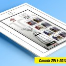 COLOR PRINTED CANADA 2011-2013 STAMP ALBUM PAGES (62 illustrated pages)