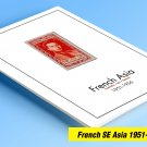 COLOR PRINTED FRENCH SE ASIA 1951-1956 STAMP ALBUM PAGES (30 illustrated pages)