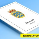 COLOR PRINTED DENMARK 1861-2010 STAMP ALBUM  PAGES (186 illustrated pages)